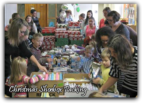 Christmas Shoebox Packing